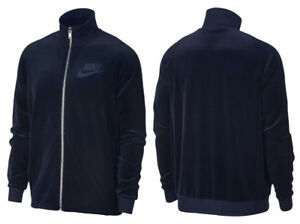 Nike-Sportswear-Velour-Track-Jacket-Zip-Obsidian-Blue-AH3386-451-New-SALE