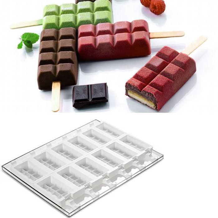 Silikomart Moule en silicone pour ice cream pop  divisé forme