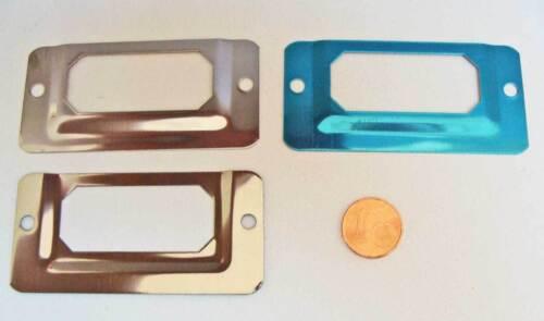 5 PORTE-ETIQUETTES rectangle métal Argenté 68x33mm DIY Cartonnage Scrapbooking