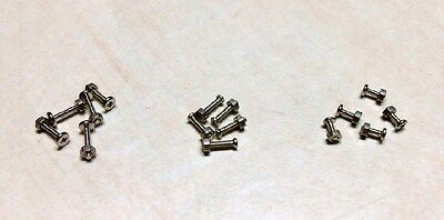 USA Shipping - 30 pc M1.2 Metric Screw & Nuts Set Philips Head Micro Miniature