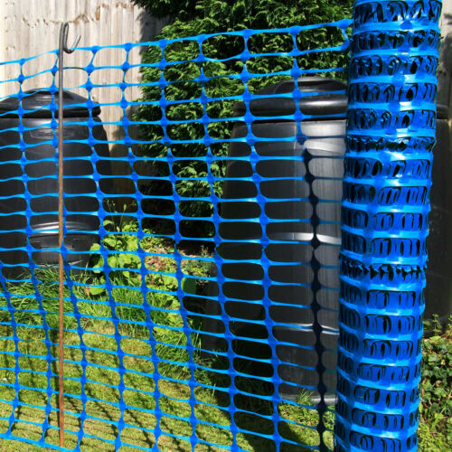 5.5kg 1m x 50m Roll Blue Safety Barrier Mesh Event Plastic Fencing Netting Net