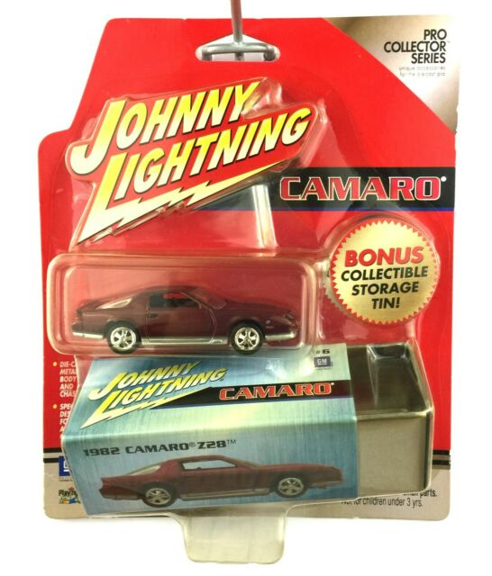 Johnny Lightning 1982 82 Chevrolet Chevy Camaro Z28 Car Red +Tin Die Cast 1/64
