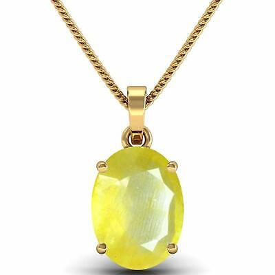 Natural Certified Handmade 10 Ct Yellow Sapphire 14K Gold Locket For Girls/&Women