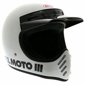 Bell-Moto-3-Classic-White-Moto-Motorbike-Motorcycle-Off-Road-Helmet-All-Sizes
