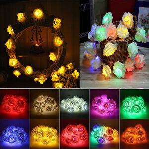 20-LED-Rose-Flower-Fairy-Christmas-Wedding-Party-Garden-Decor-Xmas-String-Lights
