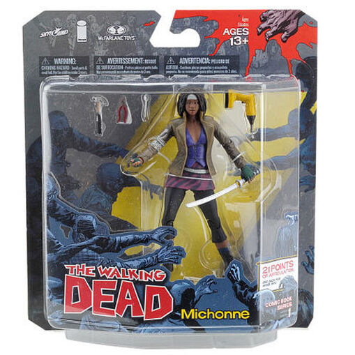 Early Walking Dead Comic Series Michonne 5  toy action action action figure boxed zombie RARE c4da94