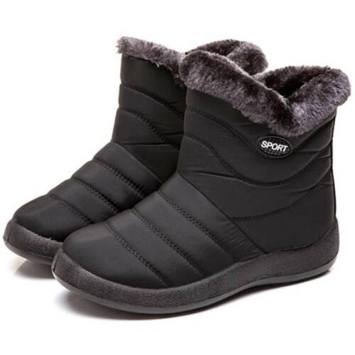 Damen Stiefeletten Schlupfstiefel Warm Gefütterte Winterstiefel Boots Schuhe 43