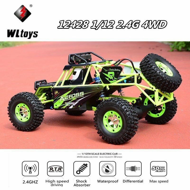 Wltoys 12428 1 12 2.4G 4WD 50km h Electric Brushed Off-road Crawler RC Car Toy U