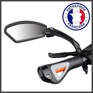 Rétroviseur De Vélo Miroir Bicyclette Sur Le Guidon Sécurité Du Cycliste