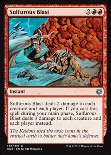 FOIL Sulfurous Blast Conspiracy 2 Take the Crown Magic The Gathering ~~ MINT