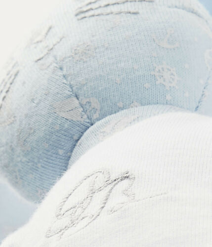PETIT BATEAU Kuscheltier Hase Doudou hellblau mit Kleidung Schmusetier 36 cm