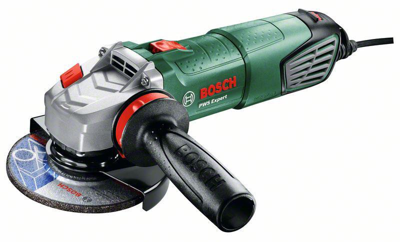 Bosch PWS Expert Winkelschleifer + Anti-Vibrationshandgriff + Koffer