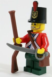 NEW LEGO IMPERIAL BRITISH CAPTAIN MINIFIGURE PIRATE SOLDIER MADE OF LEGO PARTS