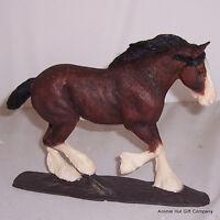 Border Fine Arts Action Horses Clydesdale Horse Dark Bay A23565