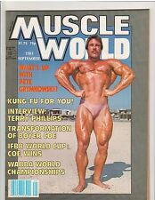 MUSCLE WORLD Bodybuilding Magazine PETE GRYMKOWSKI/Boyer Coe poster 9-81