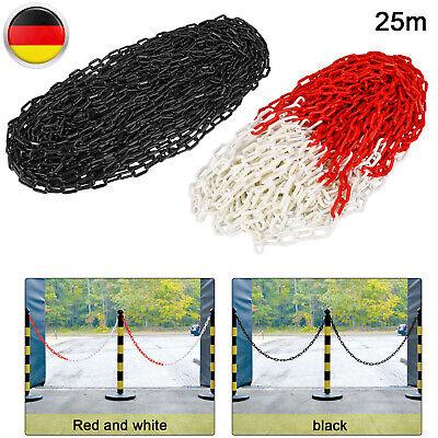 Absperrkette Warnkette Kunststoffkette 6mm Rot Weiß Länge 9 Meter B-Ware Rest