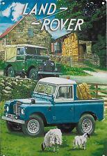 New 20x30cm Land Rover Pickup retro medium metal advertising wall sign