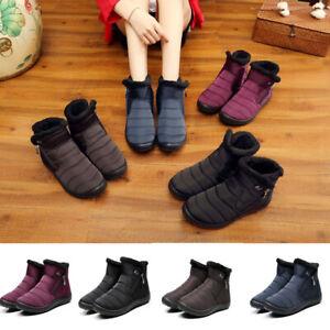 Women-Winter-Warm-Thick-Fleece-Lined-Snow-Boot-Waterproof-Anti-slip-Cotton-Shoes