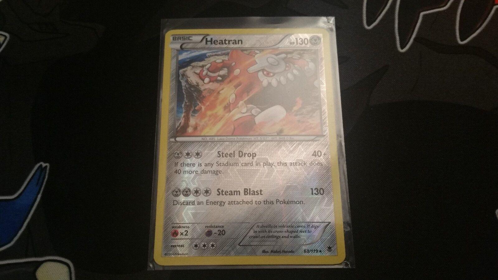 Rare Holo Reverse Holo NM-Mint Pokemon XY 63//119 Phantom Forc 1x Heatran