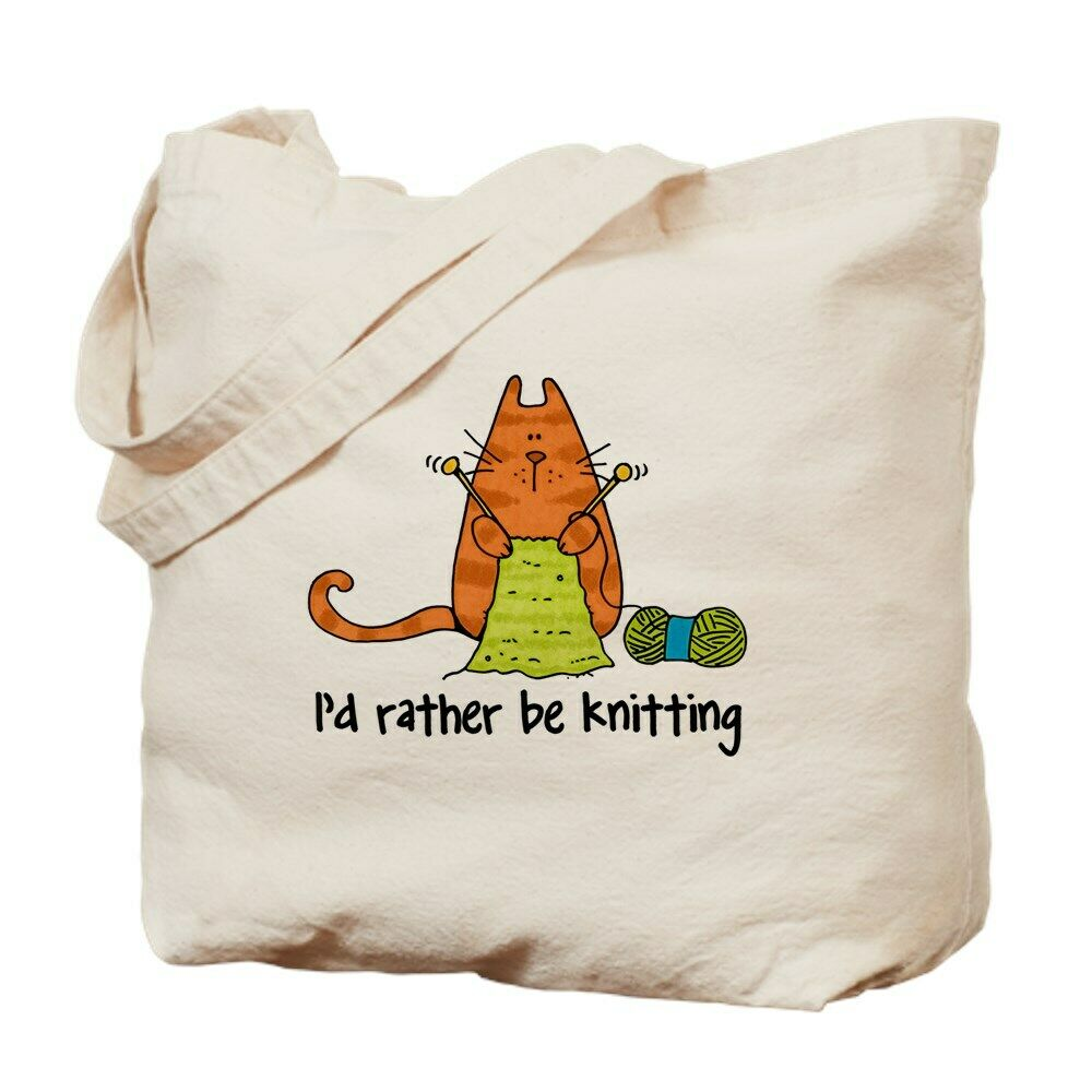 CafePress Rather Be Knitting Tote Bag (105524907)