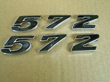 GM MOPAR FORD STROKER 572 ENGINE ID FENDER HOOD SCOOP TRUNK EMBLEMS - BLACK