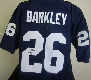 sports shoes 6d5f4 2155c Details about SAQUON BARKLEY AUTOGRAPHED SIGNED PENN STATE JERSEY JSA COA