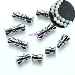 50-Pcs-Jewelry-Screw-Clasp-For-Necklace-Bracelet-Making-DIY-Buckle-Silver-12mm