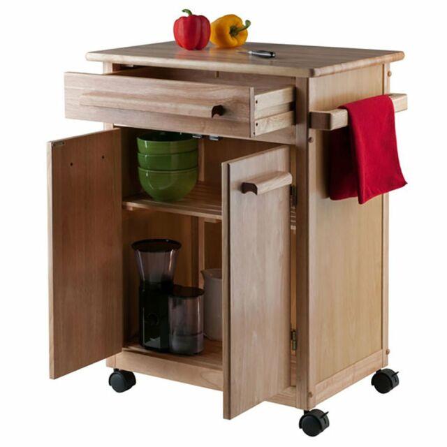 57 Rolling Kitchen Island Portable