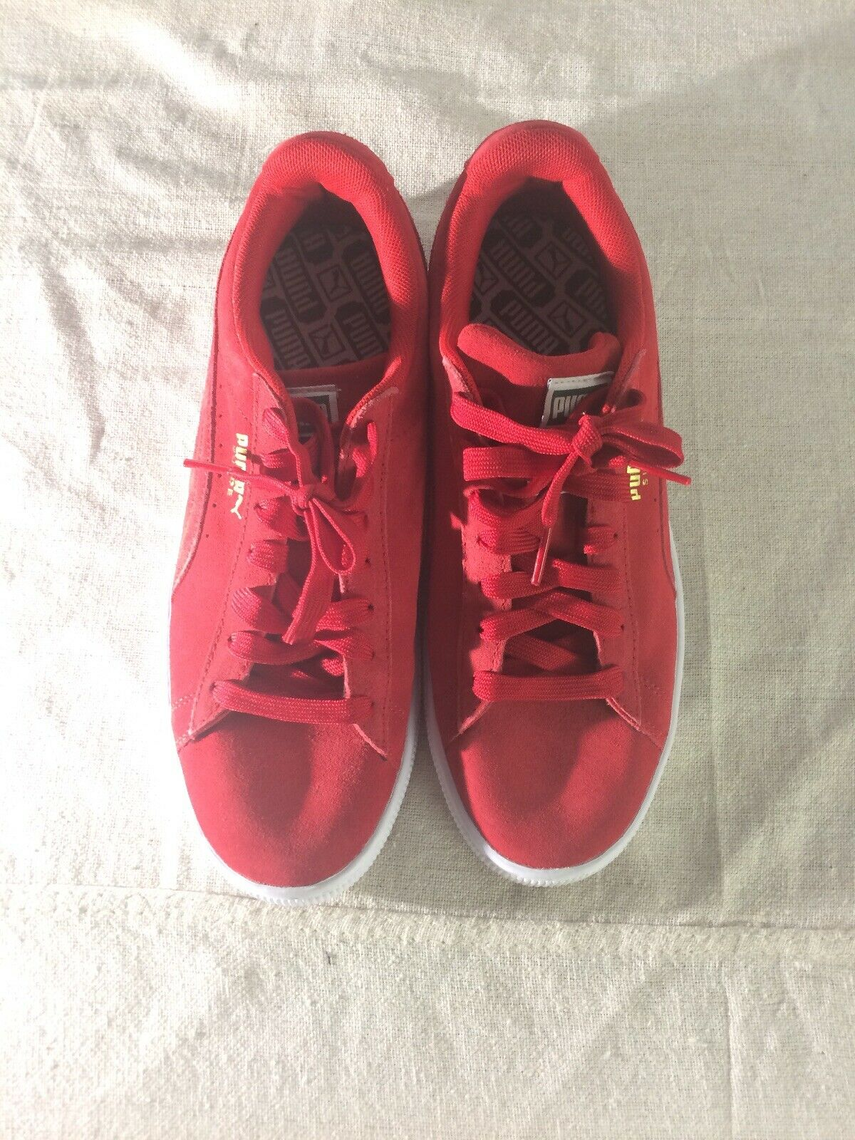 Mens Puma Trapstar Red Suede shoes Size 9
