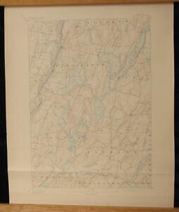 China Lake Maine Map.Vassalboro Maine Topo Map 15 Min 1898 China Lake Augusta Windsor