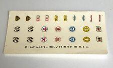 Hotwheels Redline Spoiler Decal Sheet #6405 Original & Clean 1969
