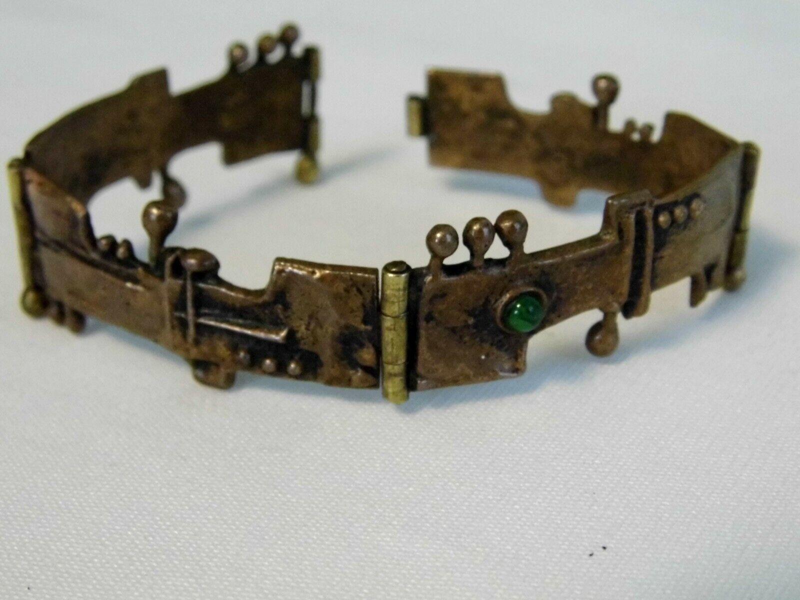 Vintage Mid Century Modern Copper Link Bracelet - image 1