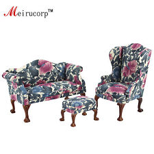 Dollhouse 1:12 scale Miniature furniture Petal pattern Living room chair&sofa