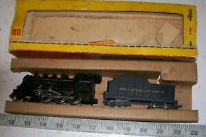 RARE-FLEISCHMANN-HO-1355-1350-24001-Metal-Train-Mogul-Locomotive-amp-Tender-PENN