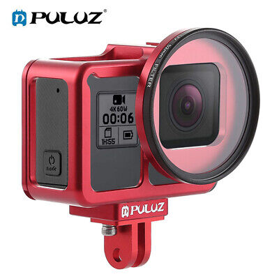 CNC Aluminum Alloy Frame Protective Cage Housing Fits For GoPro HERO7//6//5 Camera