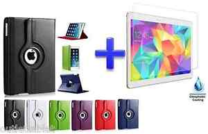 Funda-Carcasa-Para-Apple-iPad-Pro-9-7-034-Giratoria-Cristal-Templado-Proteccion