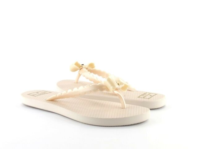 5c74109fae26 Kate Spade New York Denise Light Pink Rose Dew Pearlized Rubber Bow Flip  Flop 6