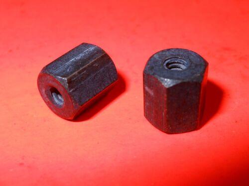 ( Qty 50 ) Standoff, Black Aluminum, 4-40 x .300 Long, 1/4 Hex, Female (F-F)