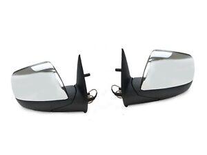 Door-Mirrors-Pair-Chrome-Electric-For-Ford-Ranger-Pj-Pk-2006-2011