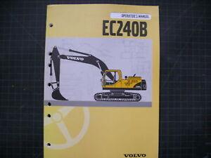 volvo ec240b trackhoe crawler excavator operation operators manual rh ebay com Volvo Excavator Toy Volvo Excavator Interior