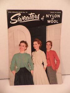 Star-Sweater-Book-Knitting-Patterns-Men-amp-Women-Nylon-Wool-1952-Craft-Booklet