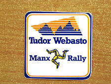 Tudor Webasto Manx Rally / Motorsport Sticker Decal