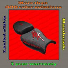 Design Seat Cover Suzuki Hayabusa 08+ HANDMADE black+red-gloss 001
