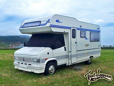 1993 Fuel Lagoon Talbot Express Screen Cover Black Out Blind Motorhome 1981