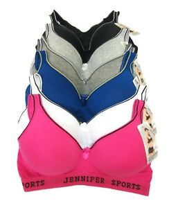 b5f6bdf87102e 6 JENNIFER SPORTS Women Wire Free RazorBack Bras  61014 32 34 36 38 ...