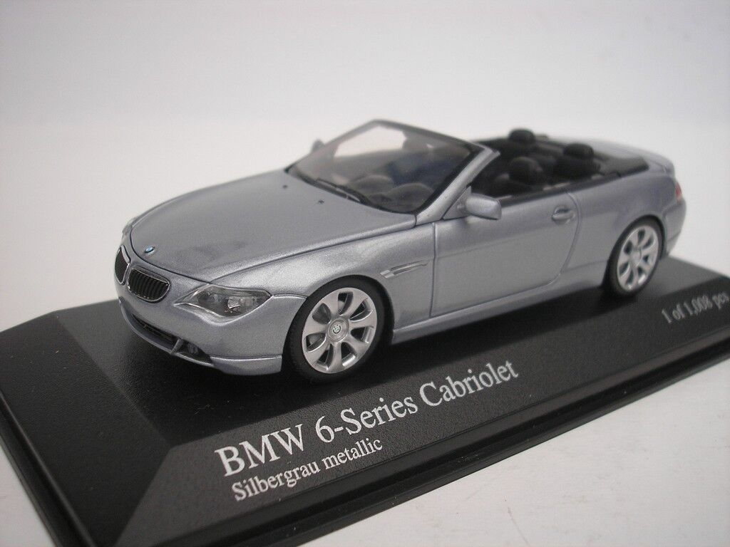 Bmw 6 series cabriolet 2006 2006 2006 gris plata metalizado 1 43 Minichamps 431026031 nuevo d0d7e9