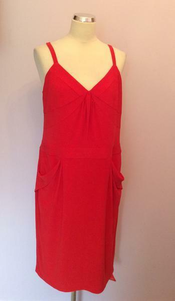 BNWT HOLLY WILLOUGHBY RED STRAPPY DRESS SIZE 16