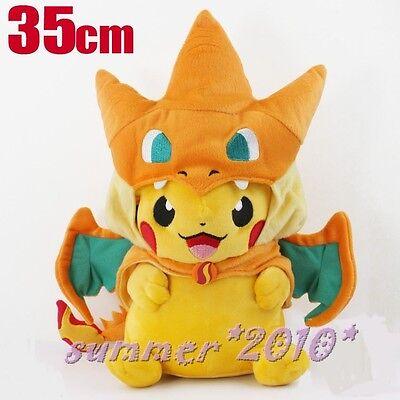 Pokemon Center Mega Tokyo Happy Pikazard Pikachu Charizard Plush toys Doll Y New