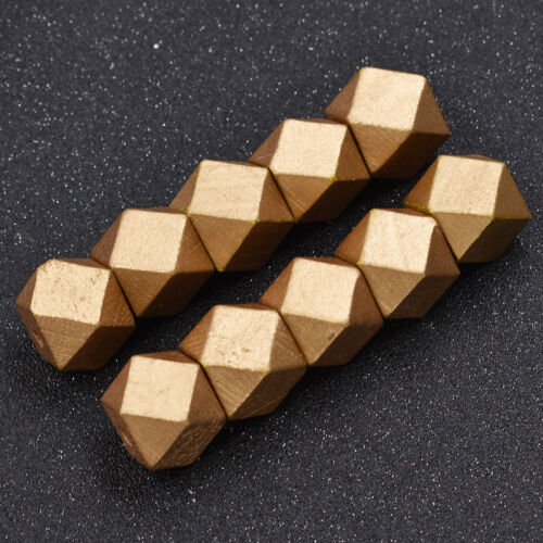 Geometric Beads for Necklace Pendants Bracelet Decoration Wooden Jewelry Crafts