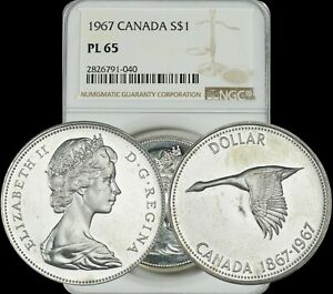 1967-CANADA-GOOSE-SILVER-1-DOLLAR-NGC-PL65-PROOF-LIKE-HIGH-GRADE-COIN